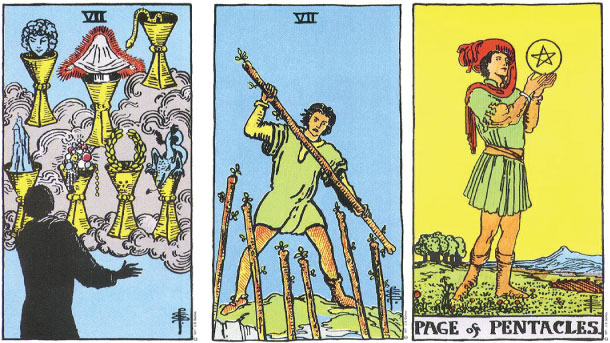seven-cups-seven-wands-page-pentacles