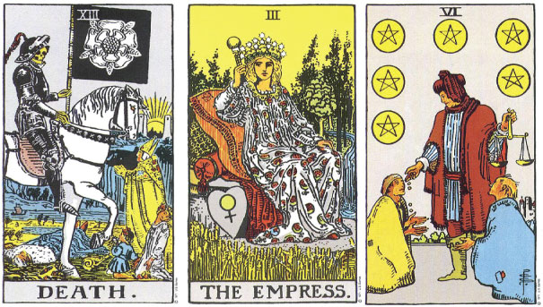 Linking Tarot Cards Death The Empress Six Pentacles Truly Teach Me Tarot Is it generous to give with a sense of resentment in our hearts? linking tarot cards death the