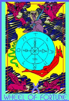 The Wheel of Fortune (X) Upright – Truly Teach Me Tarot