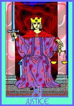 Justice (XI) Upright – Truly Teach Me Tarot