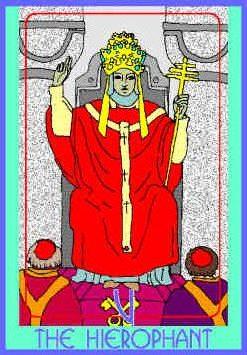 The Hierophant (V) Upright – Truly Teach Me Tarot